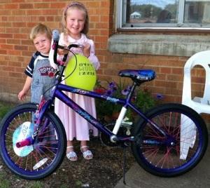 Purple Bike Winner